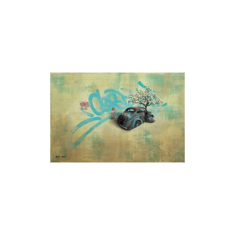 Apolo Torres - Fiorire/Fluorescer - Original on canvas