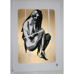 BOSOLETTI - limited screenprint to 15 pieces - untitled gold