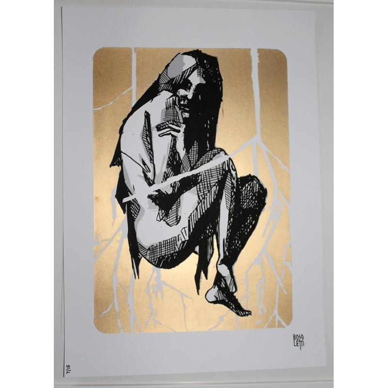 bosoletti screenprint gold and black - limited 15