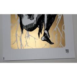 bosoletti screenprint  gold and black - limited 15