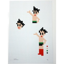 SPACE INVADER - ASTRO BOY - SCREENPRINT